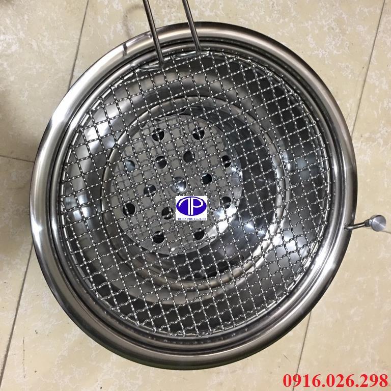 Bếp nướng than hoa âm bàn kèm vỉ