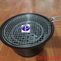 Bếp nướng than hoa âm bàn vỏ sắt kèm vỉ nướng
