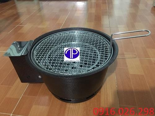 Bếp nướng than hoa không khói có quạt thôi than kèm vỉ