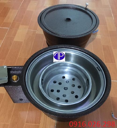 Hai loại bếp nướng than hoa âm bàn vỏ sắt
