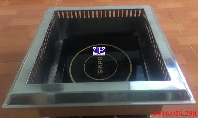 Bếp lẩu từ hai ngăn âm bàn