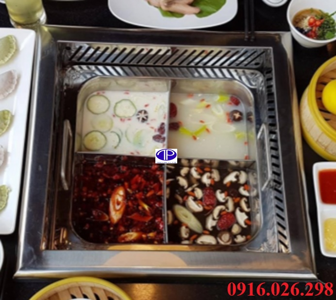 Bếp lẩu 4 ngăn giá rẻ tại Hà Nội