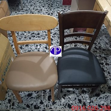 Hai loại ghế ăn mặt đệm nhà hàng