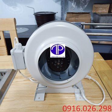 Quạt nối ống D150 cho hệ thống hút khói